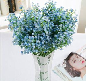 New Design Simulation Flowers Artificial Pu Gypsophila Flowers Wedding Fake Babysbreath Christmas Party Table Decoration Artificial Bouquet