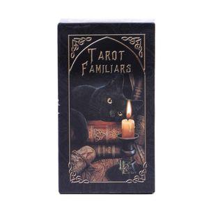 Em armazém Familiares Cartas de Tarô animal Magia Adivinhação Card Full Inglês Com Pdf Guia Game Portable Board Jogar Poker yxlqXd