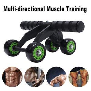 4 휠 복부 파워 휠 근육 운동 장비 홈 피트니스 장비 AB 롤러 체육관 롤러 트레이너 훈련 Y201011