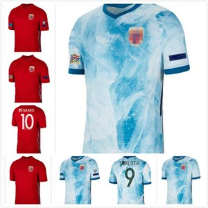 Nuovo 2020 2021 maglie da calcio 2021 casa rossa # 23 Haaland nazione squadra camicia da calcio srloth degaard berge uniformi di calcio