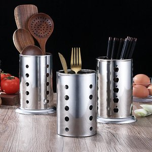 Stainless Steel Chopsticks Bucket Kitchen Utensils Tableware Rack Chopsticks Spoon Stand Bucket Holder 3styles free sea shipping BWA2005