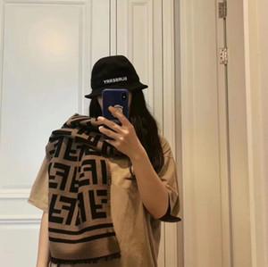 Осень зимнее одеяло шарф женские пашмина кашемировые шарф двухсторонние буквы плед шарфы вязаные теплые длинные шали обернуть высшее качество