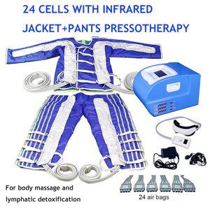 Prensaterapia Gordura Reduza a pressão de ar de máquina de drenagem linfática Massagem Profissional Infravermelho Slimming Detox Body Spa Massager