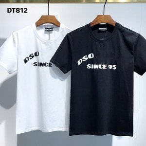 DSQ PHANTOM TURTLE 2021SS New Mens Designer T shirt Paris fashion Tshirts Summer DSQ Pattern T-shirt Male Top Quality 100% Cotton Top 1086