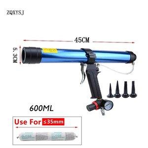 Pneumatic Sealant Gun 600ml Air Gun Valve Silicone Sausages Caulking Tool Caulk Nozzle Glass Rubber Grout Construction Tools T200602