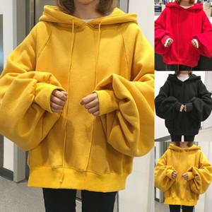 Casual Hoodies Women Long Sleeve Thick Warm Hooded Sweatshirt Hoodie Coat Casual Sportswear Pullovers Oversize Hoodies
