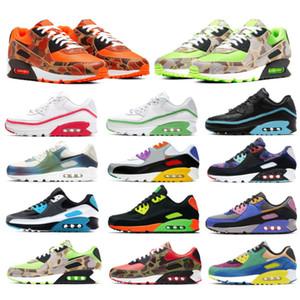أعلى جودة 90 الاحذية الرجال النساء chaussures 90s كامو الأخضر سوبرنوفا الثلاثي الأبيض الأسود رجل المدربين الرياضة في الهواء الطلق رياضية