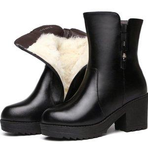 DORATASIA Brand Girl Warm Short Plush Hot Metal Ankle Boots High Heels Zipper Platform Boots Women Stylish Shoes Woman