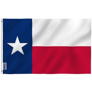 Anley mosca Breeze 3x5 del pie del indicador del estado de Texas - Texas Estado Banderas de poliéster con ojales de latón 3 x 5 pies C1002