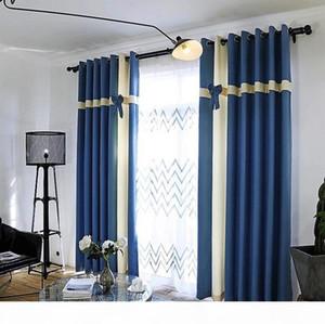 Новые 2019 Nordic старинных штор высокого класс Твердого Лук высокого качество штора, удлиненное (280cm = 110inch) домой окно Блоки световая завеса