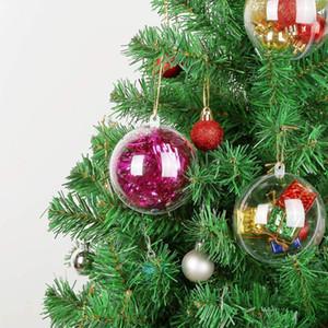 70-140mm Big Christmas Tree Décorations Effacer Boule Transparent Ouvrir plastique Babiole Ornement Coffret Cadeau Cadeau Nouvel An