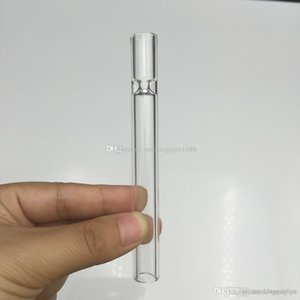 high quality Glass Straw Tube Cigarette Filter Pipes Glass Filter Tips Thick Pyrex Glass Smoking Pipes Cheap Cigarette Holder drop shipping