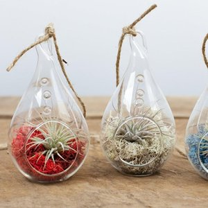 Container Clear Plant Hanging Terrarium Teardrop balls Glass Candle Holder for Home Wedding Decoration