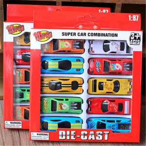 Racing Toys 10 PACK Alloy Pull Back Racing Toys Kids Cars Models Toy Alloy Push Back Cars In Box Package Kids gift