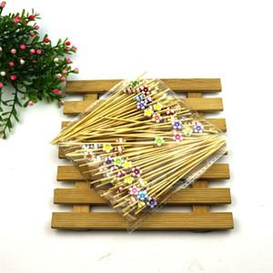 100 шт 12 Cm Pearl Bamboo Розетка коктейль питание Шашлык ключи Ешьте фрукты Еды Палочки фестиваль Свадеб питания qylyOS mywjqq