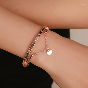 Fashion Girls Women Creative Initial Knot Heart Charm Bracelets Adjust Chain Bangle Jewellery1