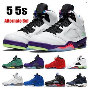 Nuovi 5 5s alternativo Bel uva Jumpman scarpe da basket dell'arrivo camoscio blu Top 3 mens neri triple womens scarpe da ginnastica formatori
