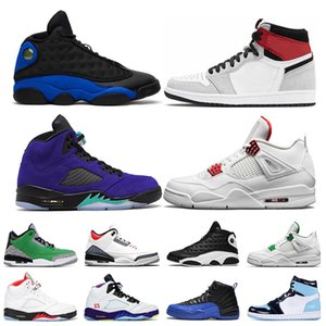 2020 Mens Basketball Shoes 13s Aurora Green 12s 11s Dark Concord 45 Bred 4s University Red Mens Sport Sneakers Shoes 7-13