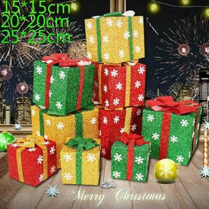 The Newest Christmas Gift Box Snowflake Glitter Present Wrapping Boxes Xmas Home Decorative Gift Box