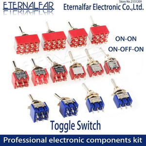 SPDT DPDT 6mm Reset Reset Toggle Toggle Switch MTS-102 5A 6A 125V 3A 250 AC Mini 3 6 PIN On-On-off-on Switch Switch Switch Motors1