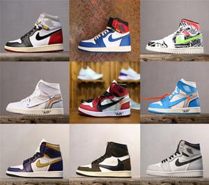 08 haute qualité Union WHITE x 1 chaussure UNC Travis x chaussures Futura SB dunk OW Scotts baskets Cour Violet Off