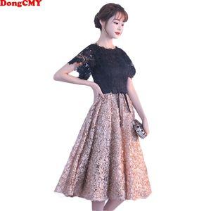 Dongcmy New Short Party Cocktail Dresses Vestidos Flower Elegante moda mini abito 201113