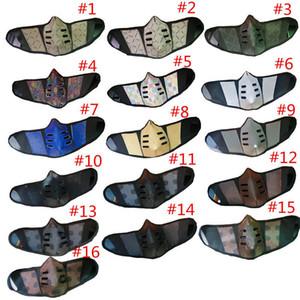 28style Unisex Gesichtsmasken Abdeckungen PU Leder Männer Frauen Staubdichte Gesichtsmaske Mode Mundabdeckung Waschbare Outdoor Party Face Mas