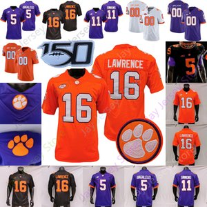Clemson Futbol Jersey NCAA Trevor Lawrence Travis Etienne Jr. D.J. Uiagalelei Amari Rodgers Murphy Powell Turner Spector Bresee Thomas