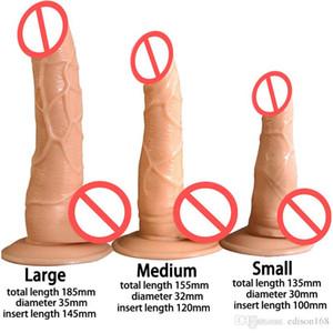 Sexo Femenino Copa de succión Para artificial Masturbador erótica pene grande Dick realista Adulto Mujeres Masturbación Juguete Súper Vibradores 3 Tamaño Golrn