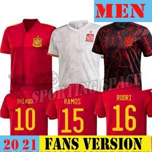 2020 2021 Spain Soccer Jerseys RAMOS THIAGO 20 21 national team DIEGO COSTA Rodri men Football Shirt Camisetas de fútbo