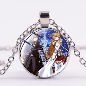 Sword Art Online Manga Kirigaya Kazuto Асун Ожерелье Женщина Дети ожерелье из стекла кабошон аним ювелирных подарки
