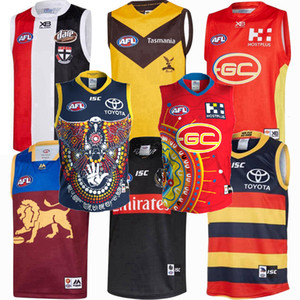 2019 2020 2021 Fremantle Dockers Richmond Tigres Giants Cats Essendon Tasmania Côte Lions Rugby Jerseys Chemise de chemise de Jersey Afl Jersey Vest