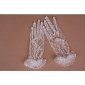 Length Full Finger Wrist Super Sheer Tulle Bridal New Arrival Cheap in Stock Lace Gloves Wedding Accessory