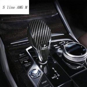 Автомобиль Styling переключения передач Ручка Пуговицы Рукав украшения Шестерни Покрывала наклейки для 3 серии G20 G28 Интерьер Авто Автоаксессуары Декор BDCt #