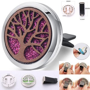 Wood tree Jewelry Essential Oil Diffuser Car Vent Clip Air Freshener Magnet Lockets Open Perfume Aromatherapy Pendants