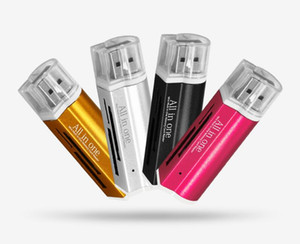 SD 카드 리더 USB C 카드 리더 4에서 1 라이터 모양의 모든 하나 개의 USB 마이크로 SD / TF M2 MMC SDHC MS 무료 DHL 2.0 멀티 메모리 카드 리더
