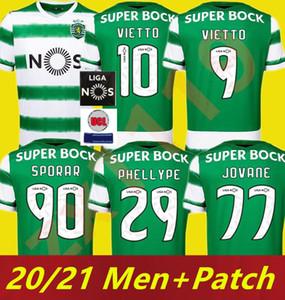 Sporting CP New 2020 2021 Спортивная клубка Главная Лиссабона Футбол Футбол 2020 2021 Maillot de Foot de Vietto Colests Acuna Футбольная рубашка
