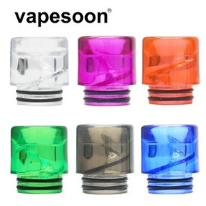 Colorful Acrylic 810 Drip Tip Vape Mouthpiece Anti-fry Oil Spiral Tube design for 810 Thread Atomizer Tank e-Cigarette