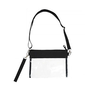 Clear Crossbody Purse Bag Clear Purse with Nylon Trim Fashionable Design and Fits Many Occasions