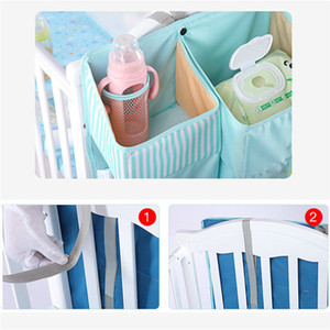 Portable Baby Crib Organizer Bed Hanging Bag for Baby Essentials Diaper Storage Cradle Bag Bedding Set Diaper Caddy 201026