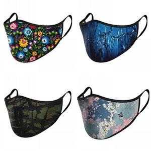 Modedesigner Gesichtsmaske Druckmuster Multi Design Faltbare wiederverwendbare Erwachsene Mund Masken Staubfest Anti Rauch Mascherine 4YL L2