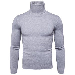 FAVOCENT hiver chaud pull à col roulé Mode homme solides Pulls Hommes Bonneterie 2020 Col Casual Male Double Slim Fit Pull Q1110
