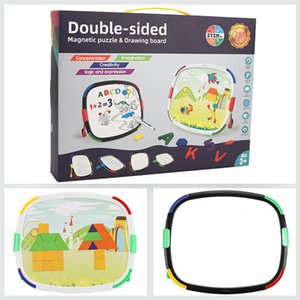 Children draw two-sided magnetic board children draw baby brush draw portable children's painting tools