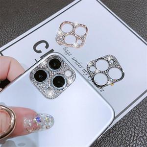 iPhone 12 12 Pro Max Shiny Bling 다이아몬드 렌즈 케이스에 대한 카메라 렌즈 보호 장치 iPhone 12 미니 용