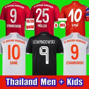 Bayern 20 21 Sane Coutinho Soccer Jersey Lewandowski Hernandez Coman Muller Camisa de Futebol Men + Kids Set Humanrace