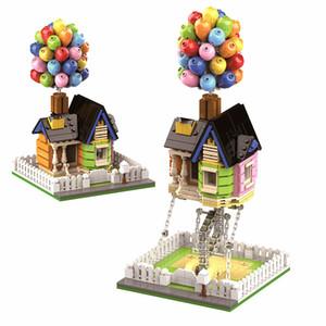 555 adet Creator Teknik Yapı Taşları Up Balon Evi MOC Klasik Şehir Tuğla Anti Yerçekimi Heykelleri Modeli Çocuk Oyuncakları Hediye Q0123