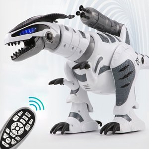 RC Dinosaur Tyrannosaurus Rex Animal Remote control Sounds Dinobot Electric Walking Animals Toy Music Light Spray kids toy 201210