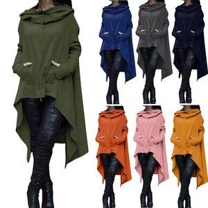 Oversized Irregular Hoodie Sweatshirt Women Vintage Clothes Hoodies Women Long Sleeve Fashion Loose Sweatshirt Sudaderas