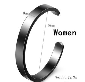 New Fashion 8mm Titanium Stainless Steel Mens And Womens Blank Open Cuff C Shaped Bangle Bracelet Lover Jewelry G wmtENl bdedome