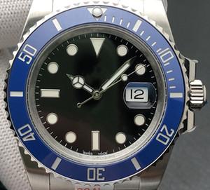N-V11 Montre de luxe 116610LN reloj para hombre de 41mm 2836/3135 movimiento de caja de acero fino 904L zafiro piedra luminosa con una sola tecla primavera hebilla